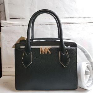 NEW Michael Kors Montgomery MD Messenger Black